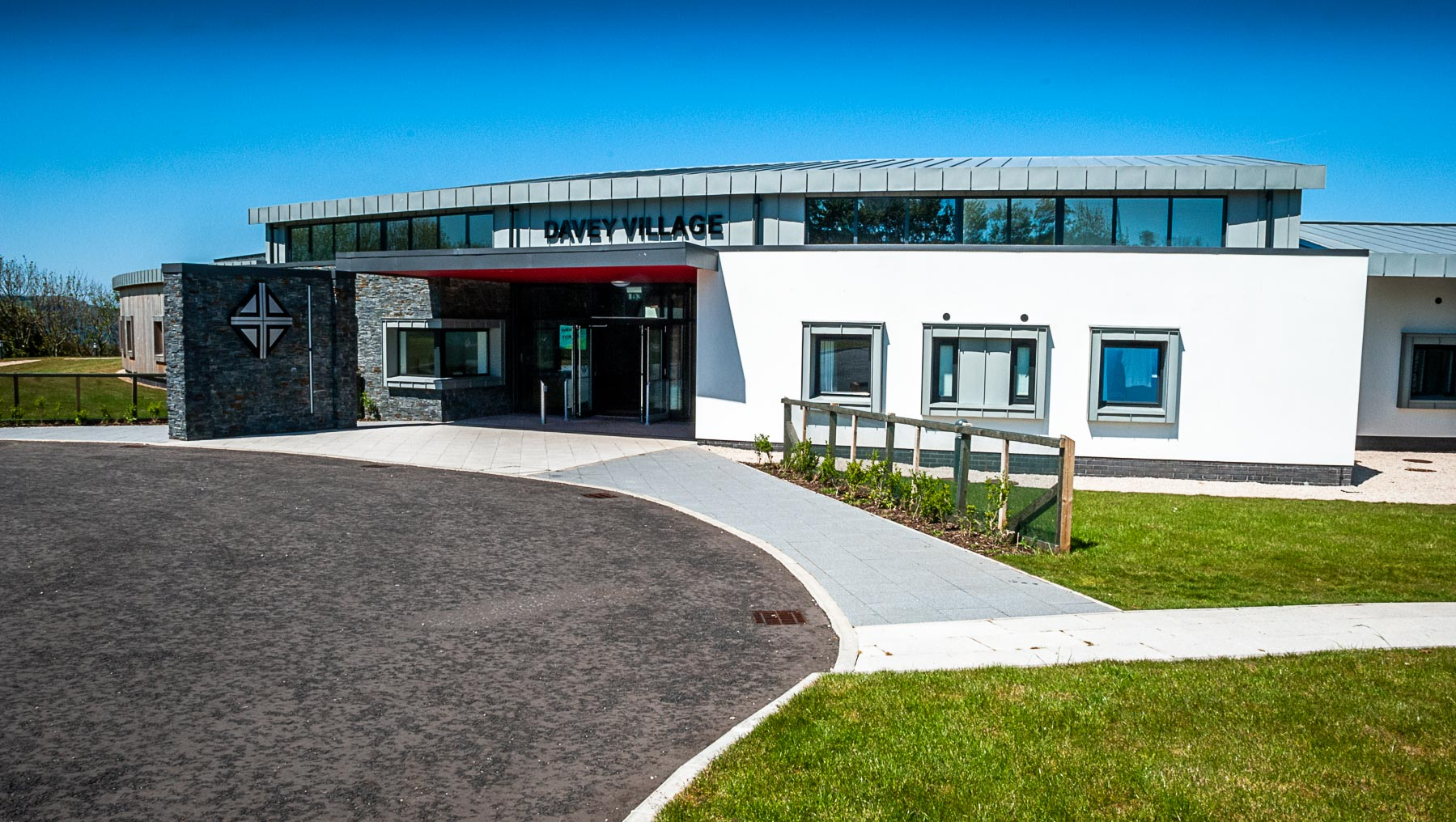 Davey Village on the Corrymeela Campus at Ballycastle, in memory of founders, Ray and Kathleen Davey.