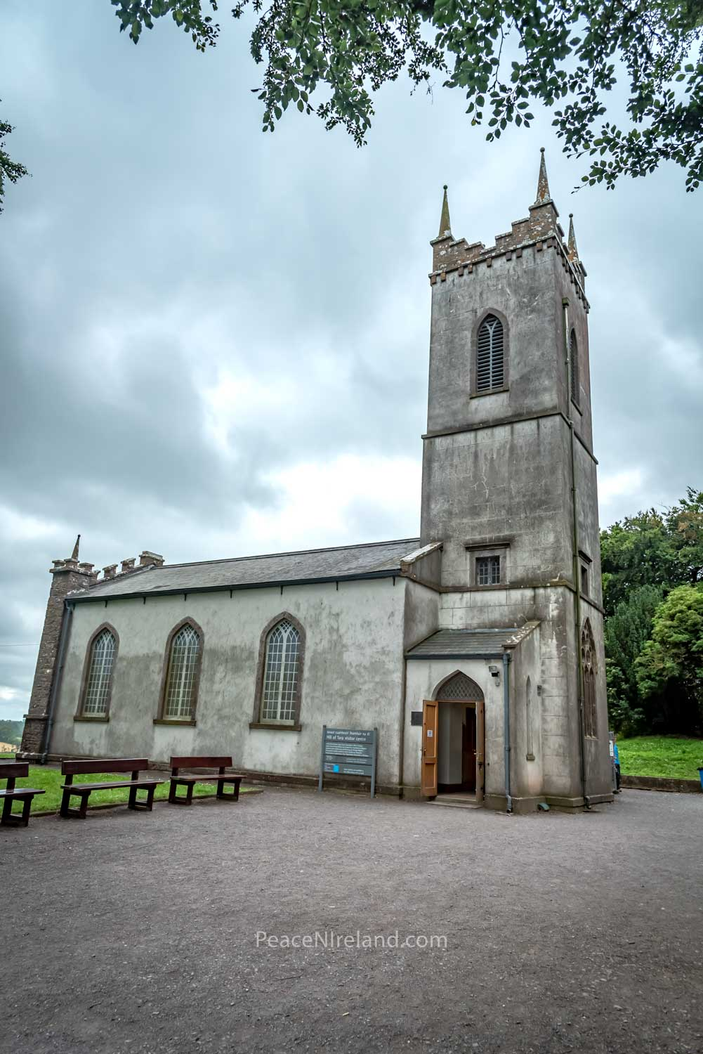 St Patrick's Church at Hill of Tara which has now been de-commissioned and opened as a visitor centre.