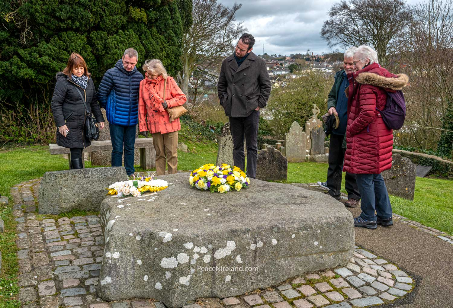 St Patrick's day 2019 - the last year the public could visit his grave before COVID restrictions of 2020 and 2021