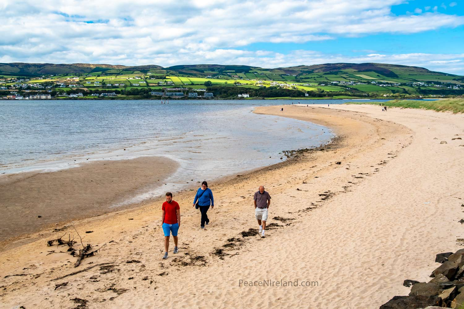 Just across the sand dunes, Benone Strand, a popular beach in Northern Ireland