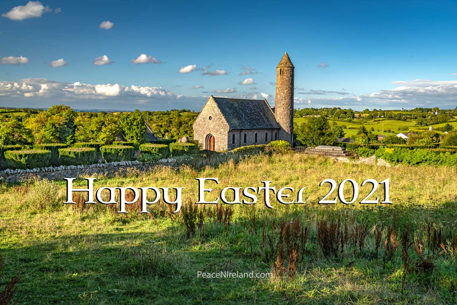 A Very Happy Easter to people of goodwill everywhere. The photo above shows the site of the very first Christian church in Ireland, founded by St Patrick in 432AD, making this the oldest ecclesiastical site in Ireland. It's located at Saul, County Down, in Northern Ireland, just a few miles from where St Patrick's remains are buried at Down Church of Ireland Cathedral, Downpatrick.